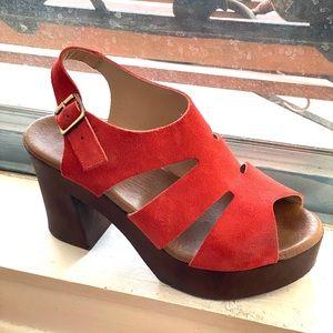 ❤️HP❤️ Eric Michael Red Platform Sandals